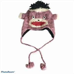 Himalayan Handicraft Centre Sock Monkey Style Hat